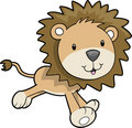 Safari Lion Vector Illustration Royalty Free Stock Photos