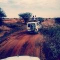 Safari travelling in sudan deserts at autumn Stock Photo