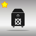 Safe black Icon button logo symbol concept