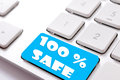 Safe buy safa sign on the keyboard Stock Photography
