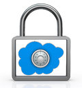 Safe cloud computing Royalty Free Stock Image
