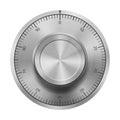 Safe combination lock wheel Royalty Free Stock Photo