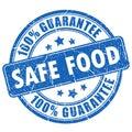 Safe food guarantee stamp Royalty Free Stock Photo