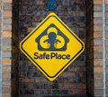 Safe haven sign this place sits outside the denver fire station the colorado law… allows a parent to hand over and infant Stock Photo