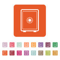 The safe icon. Safe symbol. Flat