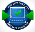 Safe PC Badge Royalty Free Stock Photography