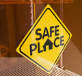 Safe Place Sign Royalty Free Stock Photo