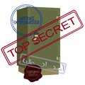 Safe with secret documents bank and print the words top the illustration on a white background Stock Photography