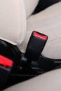 Safety belt closeup automobile seat Stock Photos