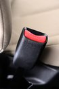 Safety belt closeup automobile seat Royalty Free Stock Image