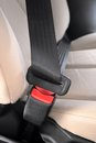 Safety belt closeup automobile seat Royalty Free Stock Images
