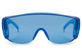 Safety blue glasses Royalty Free Stock Photo