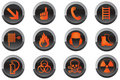 Safety button icons Royalty Free Stock Photography