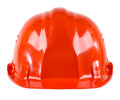 Safety cap photo beauty red close up on white background from one side Royalty Free Stock Images