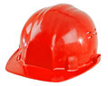 Safety cap photo beauty red close up on white background from one side Royalty Free Stock Photography