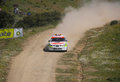 Safety car in rally de portugal algarve april on april algarve Stock Photos