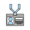 Safety card press icon