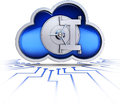 Safety cloud d illustration for an computing concept Stock Photography