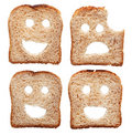 Safety concept with bread slices Royalty Free Stock Photos
