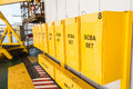 Safety contained breathing air keep in yellow box Royalty Free Stock Image
