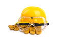 Safety equipment on the white background Royalty Free Stock Images