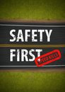 Safety First Speed Kills Road Sign Illustration Royalty Free Stock Photo