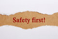 Safety First Royalty Free Stock Photo