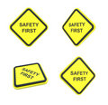 Safety first warning label Royalty Free Stock Image