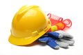 Safety gear kit Royalty Free Stock Photo