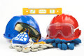 Safety gear kit Stock Photos