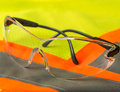 Safety glasses for eye protection Royalty Free Stock Photo