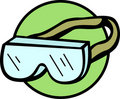Safety goggles with strap vector illustration Royalty Free Stock Photo