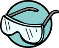 Safety goggles vector illustration Royalty Free Stock Photo
