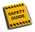 Safety guide yellow spiral book isolated on white background Stock Photography