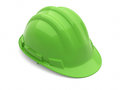 Safety helmet green on white and clipping path Royalty Free Stock Image