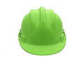 Safety helmet green on white and clipping path Stock Photos