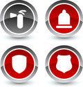 Safety icons. Royalty Free Stock Images
