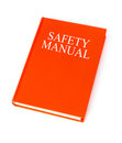 Safety manual on white background Stock Images