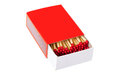 Safety matches in red box Stock Photography