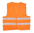 Safety orange vest isolated on a white background Stock Images