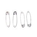 Safety pin isolated on white background Royalty Free Stock Photo