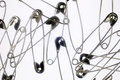 Safety Pins on White Royalty Free Stock Photo