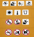 Safety and prohibition signs Royalty Free Stock Photo