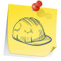 Safety reminder sticky note Stock Photos
