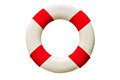 Safety ring lifebuoy isolated on white background Stock Photos