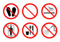 Safety sign collection in vector illustration design Stock Images