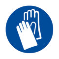 Safety sign hand protection