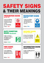 Safety Sign and Their Meaning in Vector