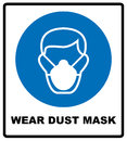 Safety sign, Wear dust mask Royalty Free Stock Photo