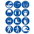 Safety signs at work Royalty Free Stock Photo